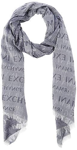 Armani Exchange Herren Logo Scarf Mütze, Schal & Handschuh-Set, Blau (Navy 04939), One Size (Herstellergröße: TU)
