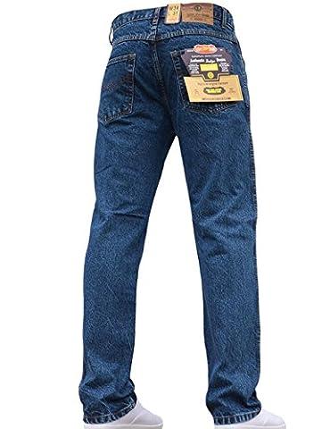 Mens Straight Leg Heavy Duty Work Basic 5 Pocket Plain
