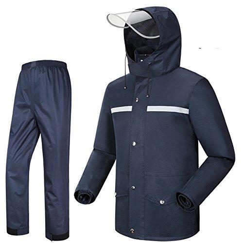 Erwachsene Regenmantel Mode Outdoor Motorrad Regenmantel Regen Hose Anzug Reiten Angeln Kleidung für Männer und Frauen (7 Farben optional)