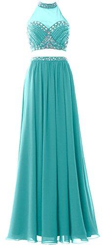 MACloth - Robe - Trapèze - Sans Manche - Femme Turquoise