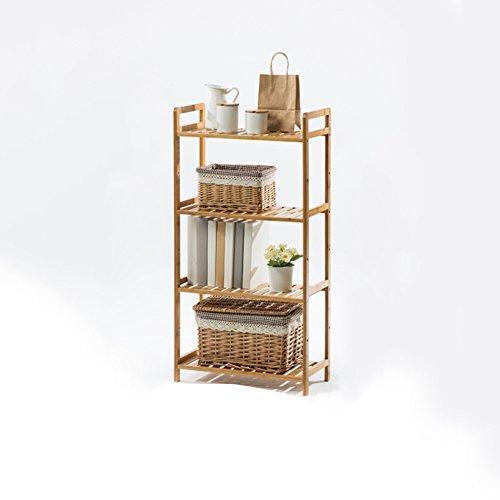 WYYY Etagère Tablette Support De Fleurs Rack De Stockage Multi-fonction Salon Chambre Quatre Couches Couleur Du Bois Bambou 35 * 25 * 100 Cm (taille : 50 * 25 * 100cm)