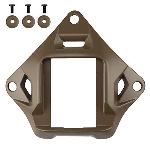 Taktischer Helm NVG Mount Shroud Stahl Sportkamera Halterung Basis für ACH Mich OPS-Core Fast Helm (Tan)