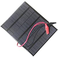 3.5W 18V Mini portátil de polisilicio panel solar + Sistema Solar Pinzas cocodrilo de bricolaje para ventilador de la lámpara de baja potencia Appliance