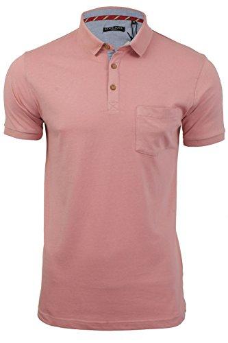 Herren Polo T-Shirt von Brave Soul `Julius`kurzärmlig Winter Pink