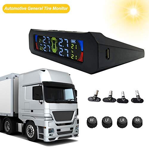 Monitoraggio della pressione dei pneumatici per auto Rilevatore solare wireless Monitoraggio generale Veicolo Strumento di attivazione automatica del sensore automatico Visualizzazione in tempo reale