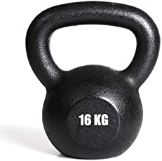 Kakss Cast Iron 16 kg Kettlebell for Strength and Conditioning/Fitness/Cross Training Assorted Colour Kettle Bell for Home Gym