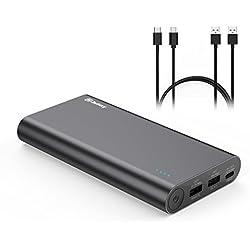 [Type-C & QC2.0] Jackery Titan S -20100 mAh 3 ports Qualcomm QC2.0 25W Chargeur Portable Batterie Externe pour Macbook/ iPhone X/8/7/6s/iPad, Samsung, Huawei, LG, HTC (Câble Type-C & Micro-USB fournis)