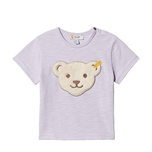 Steiff Baby-Mädchen T-Shirt Kurzarm, L001913401, Violett (Pastel Lilac 7008), 74 -