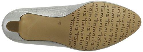 Tamaris 1-1-22454-38, Scarpe con Tacco Donna Grigio (Offwht. Struc. 120)