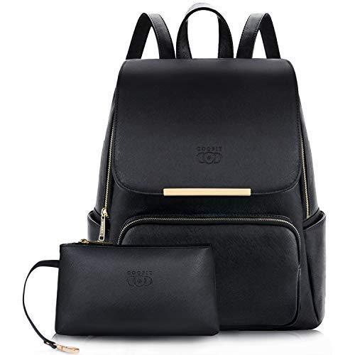 Zaino Donna, COOFIT Borsa Zainetto Donna Universita Elegante Backpack Ragazze (Nero)