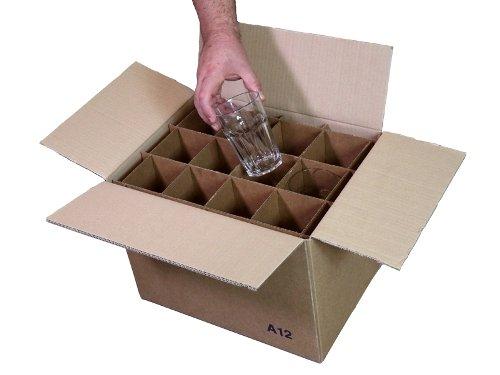 Simba paper design 2 scatole 24 bicchieri altezza max cm 14 cartone 2 onde trasloco+spedizione