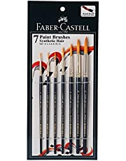 Faber-Castell Paint Brush Set - Round, Pack of 7 (Navy Blue)