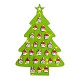semen Adventskalender zum Aufhängen Weihnahten Motiv Weihnachtsbaum LED-Lichtern Ornamente Wandhängekalender Weihnachtsdekoration Anhänger Kalender