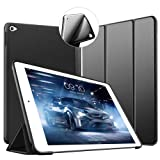 VAGHVEO Funda iPad Air 2, Ligera Silicona Soporte Smart Cover [Auto-Sueño/Estela], Cubierta Trasera de TPU Suave Cáscara para Apple 9.7 Pulgadas iPad Air 2 (Modelo: A1566, A1567), Negro