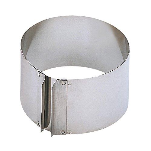 KAISER Tortenring mit Griffen Ø 16,5 x 32 cm 9 cm Pâtisserie individuelle Größeneinstellung extra hoher Rand spülmaschinengeeignet