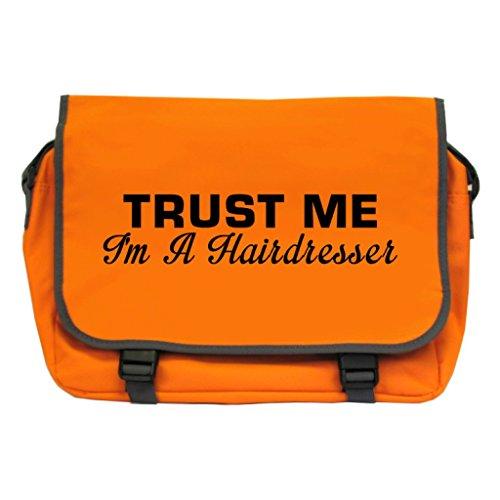 Price comparison product image Trust Me I'm A Hairdresser Messenger Bag - Orange