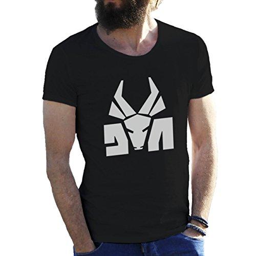 Die Antwoord Top Rap Star Ninja Yolandi Logo Schwarz T-Shirts für Herren in Großen Größen 3X Large (Großes T-shirt 3x)