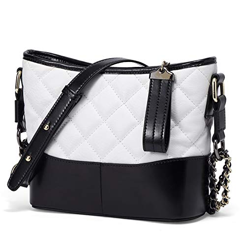 Hautton Luxus Kleine Umhängetasche Schultertasche Ledertasche Damen Günstige Tasche Weiß & Schwarz