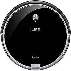 ILIFE A6 Robot aspirador con la succión fuerte, robot de limpieza para suelos, para delgada alfombras, negro