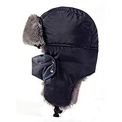 Q.KIM Unisex Winter Ear Flap Trooper Trapper Bomber Hat Keeping Warm while Skating, Skiing or Other Outdoor Activities