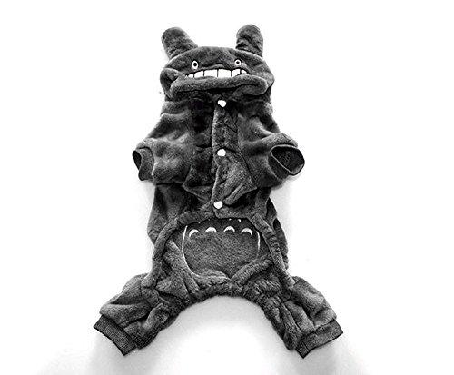 Imagen de hkyiyo totoro disfraces para mascota perro cachorro gato mono coral fleece sudadera con capucha cálido invierno suave felpa ropa