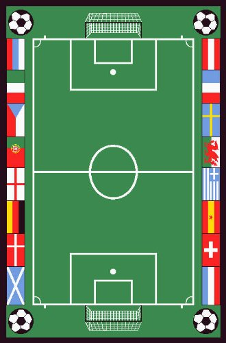 Preisvergleich Produktbild Football Stadium Soccer Pitch Playroom Mat High Quality Easy Clean 2 Sizes (80x120cms) by Unknown