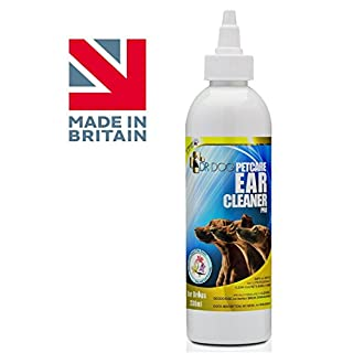 ~230 ML~ Dr Dog Petcare Ear Cleaner Pro. Made in UK. Cleanse, Deodorise, Remove Earwax, Stop Head Shaking, Itching, Mites Infection, No Mess, Non-Greasy, Vanilla & Sweet Pea Scent. FREE 48 HR COURIER