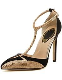 QPYC Zapatos del banquete del partido del diamante de las sandalias de los altos talones de las mujeres , 37 ,...