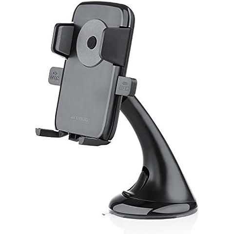 Arendo - Soporte universal para coches / vehículos / cierre rápido / articulación esférica 360° y ventosa   Soporte universal   Adecuado para teléfonos móviles, teléfonos inteligentes, tabléfonos, sistemas de navegación   Portátil   Compatible con parachoques / estuches /