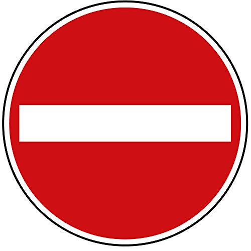 Verkehrszeichen Verbot der Einfahrt Nr. 267 | Ø 600mm, Alu 2mm, RA1 | Original Verkehrsschild nach StVO mit RAL Gütezeichen | Dreifke®