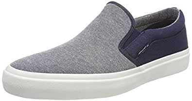 JACK & JONES Herren Jfwrush Chambray Mix Anthracite Sneaker, Grau (Anthracite), 44 EU