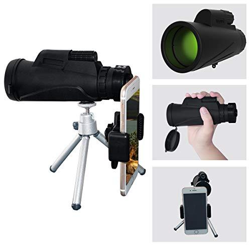 Newdoar monocular telescopio, 12 * 42 impermeable BAK4 prisma FMC monocular con trípode...