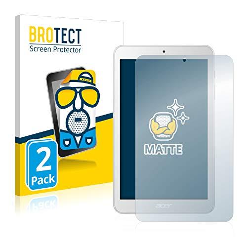 BROTECT Entspiegelungs-Schutzfolie kompatibel mit Acer Iconia One 8 B1-870 (2 Stück) - Anti-Reflex, Matt