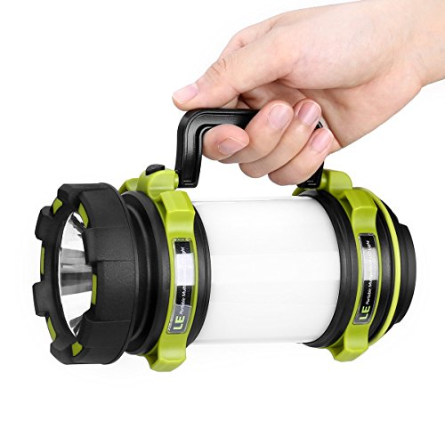 41Wliuc4KvL. SS500  - LE Rechargeable CREE LED Torch, 500 Lumen Camping Lantern, Water Resistant Outdoor Searchlight for Emergency, Fishing, Hiking, Power Cuts and More