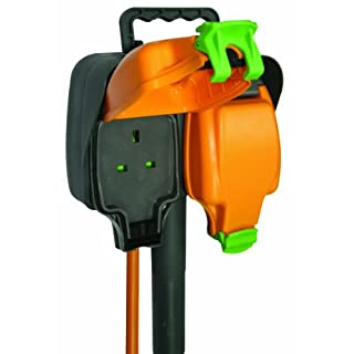 Masterplug IPGS15/2 IP Rated Garden Spike with Weatherproof Sockets and 10 m Extension Lead 2 GANG