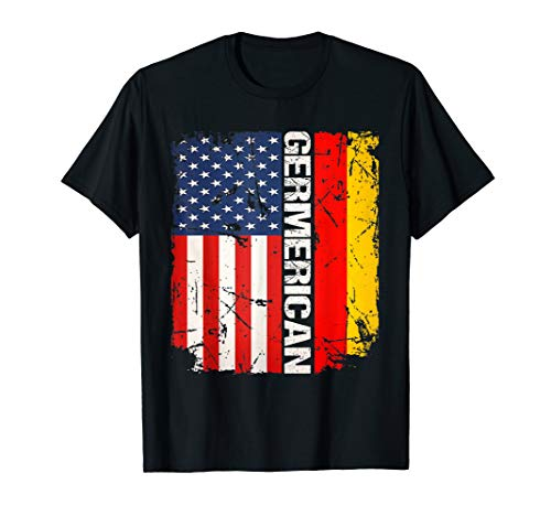 German American Flag Shirt Germerican Deutsch USA Men Women T-Shirt (American Flag Damen Shirt)