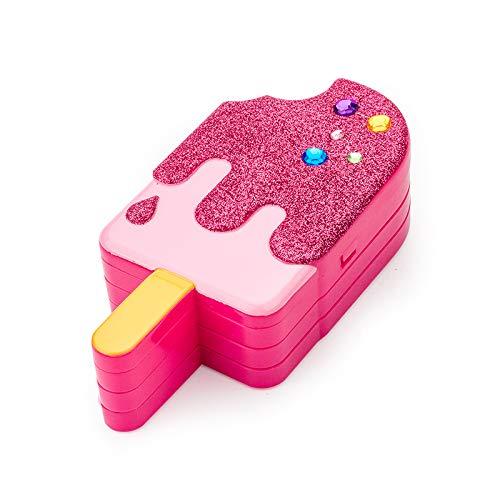 Ocamo Kinder Mädchen Popsicle Form Simulieren Make-Up Spielzeug Set Lipgloss Flash Puder Make-Up...