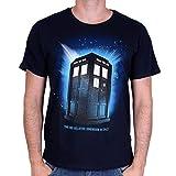 Doctor Who T-shirt da Uomo Tardis spazio al blu di cotone serie - XXL