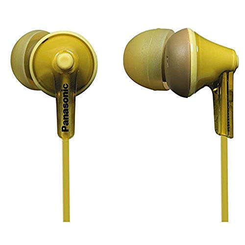 Panasonic RP-HJE125E-Y In-Ear (Drei Paar Pass-Stücke, 10-24.000 Hz, 1,1 m Kabel) gelb (Schwarz N Gelb)