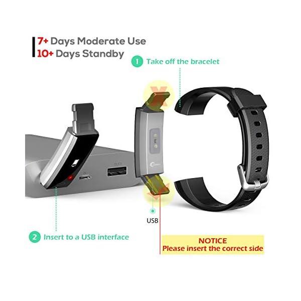 CHEREEKI Pulsera Actividad, Fitness Tracker IP68 Impermeable 14 Modos de Ejercicio 7