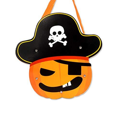 1pcs Piraten Stück Halloween-Süßigkeit Totes Geschenk-Beutel für Kinder DIY Papier Halloween Trick Treat Tasche ()