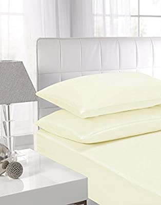 EDS® NEW PAIR of PLAIN PILLOWCASES Poly Cotton Luxury Bedroom - 2 x Pillow Case