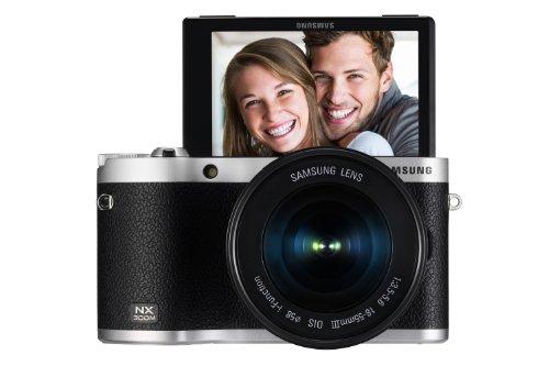 """Samsung NX300M - Fotocamera di sistema compatta (20,3 Megapixel, zoom ottico 2x, schermo touchscreen da 8,4 cm (3,3""""), colore: Nero"""