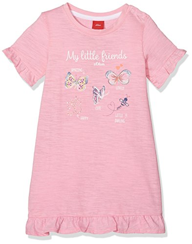 s.Oliver Baby-Mädchen Kleid 65.803.82.2708, Rosa (Gerbera 4400), 86