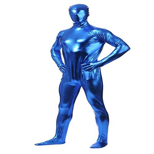 Unbekannt Sharplace Spandex Herren Damen Ganzkörperanzug Kostüm Ganzkörper Anzug Skin Kostüm Bodysuit Zentai Cosplay - Blau, XXL