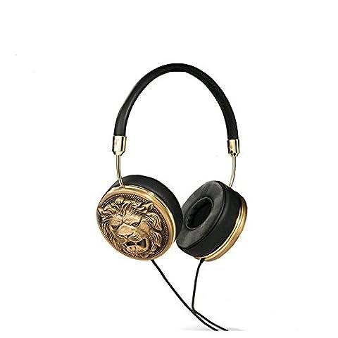Frends Taylor Supertrash Over Ear Kopfhörer mit Headsetfunkt. - Schwarz/Goldlion (Frends Kopfhörer)