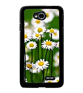Fuson Premium 2D Back Case Cover Floral Pattern With Multi Background Degined For LG L70