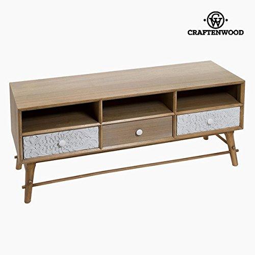 Foto de Mesa para Televisión Mdf y madera de pino Blanco (3 cajones) (120 x 41 x 51 cm) by Craftenwood