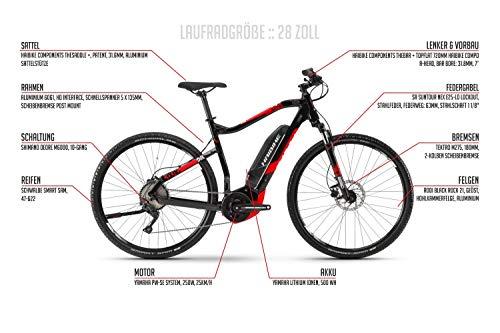 29 Zoll Haibike Sduro Cross 2.0 E-Bike Elektro Fahrrad Pedelec 500Wh Shimano Deore 10 Gang Gr.L