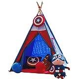 Spielzelte Castle Blue Toys Faltbare Spielzeug Zimmer Großen Raum Kinderzelt Kindergarten Indoor Outdoor Leseecke 110 cm Spielhaus (Color : Blue, Size : 110 * 110 * 160cm)